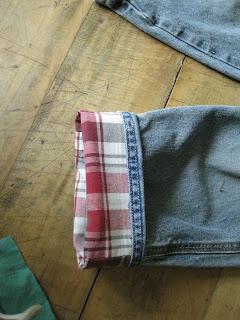 plaid cuffed pants