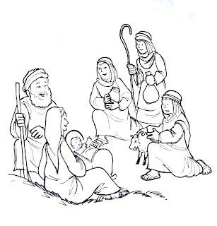 Pastores llegan a ver al mesías para colorear