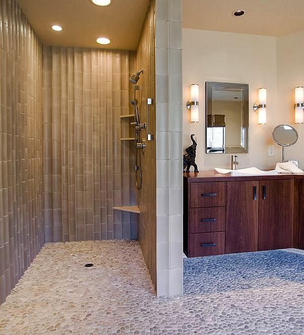 Sonar Con Una Regadera De Baño:ducha de piedra o con ta rima de madera para crearme un pequeño spa