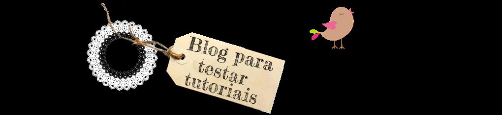Blog para testar tutoriais