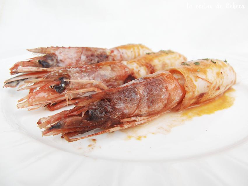 Calamares rellenos de gambones