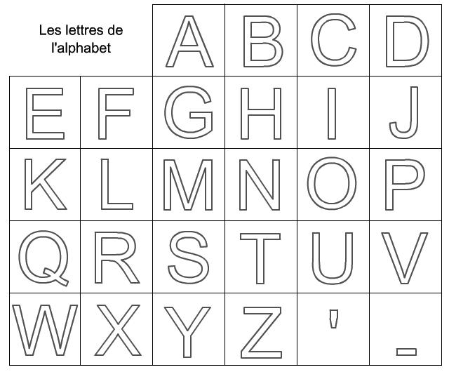Lettres de l alphabet a decouper - Lettre a decouper ...