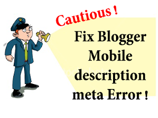 Blogger mobile m=0,m=1 Duplicate meta descriptions