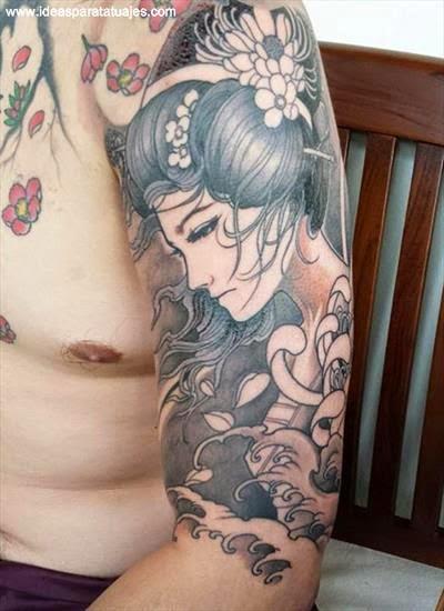 tatuajes de mujer japonesa