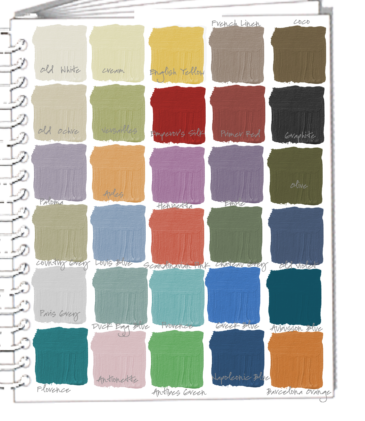 Colors of annie sloan chalk paint - Tools Tools Annie Sloan Swatch Book