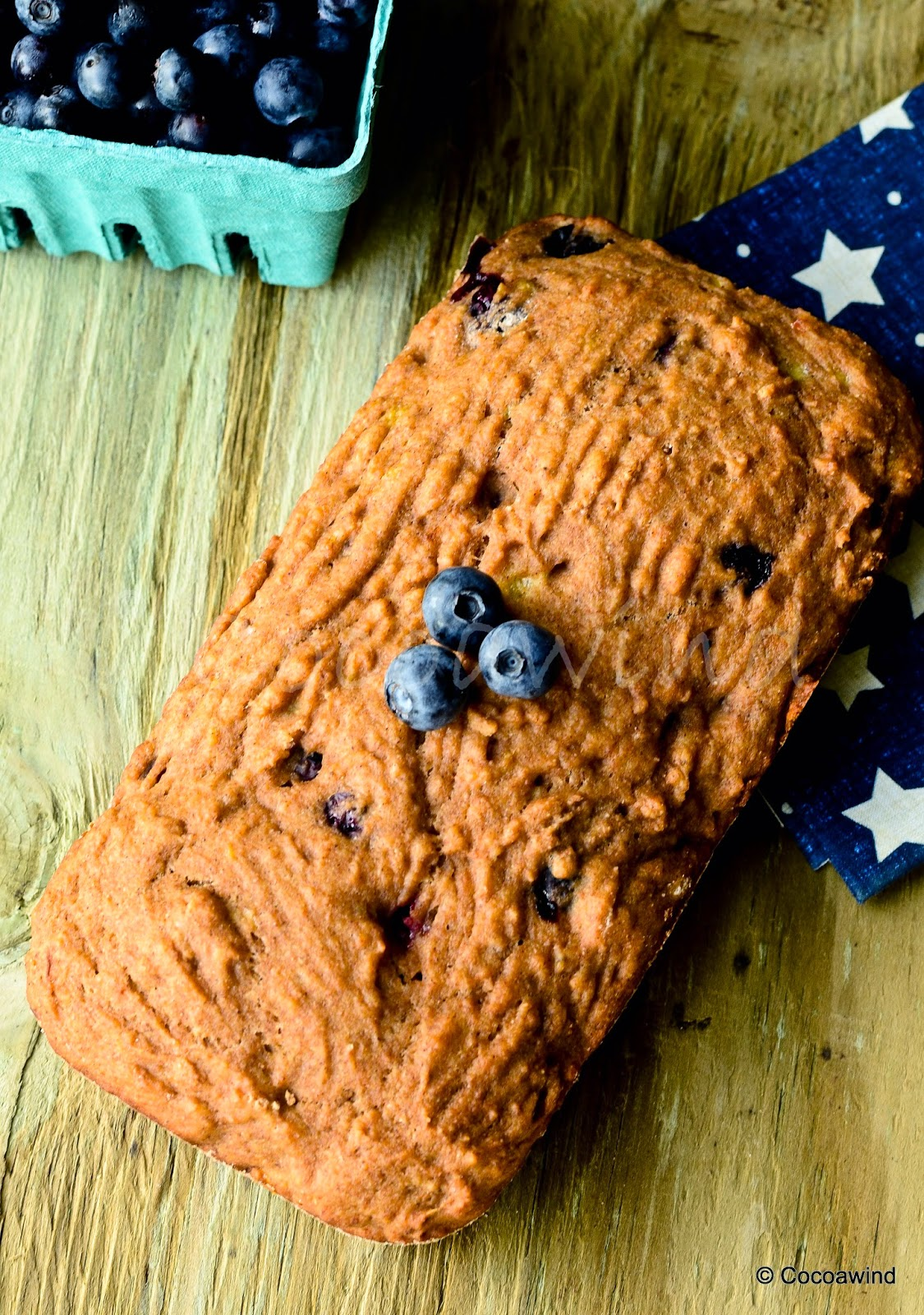 Whole-wheat Blueberry Banana Bread