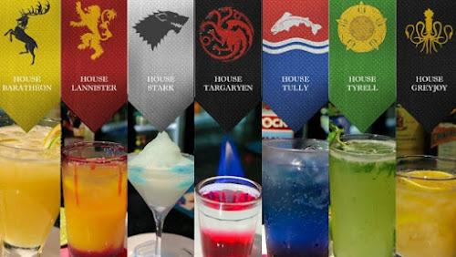 Para cada reino de Game of Thrones, um drink.