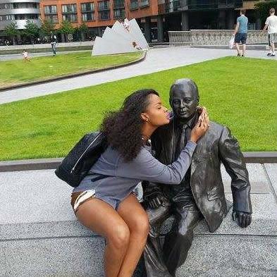 Namibian BBAfrica Winner Dillish Mathews Kissing Stranger Photo