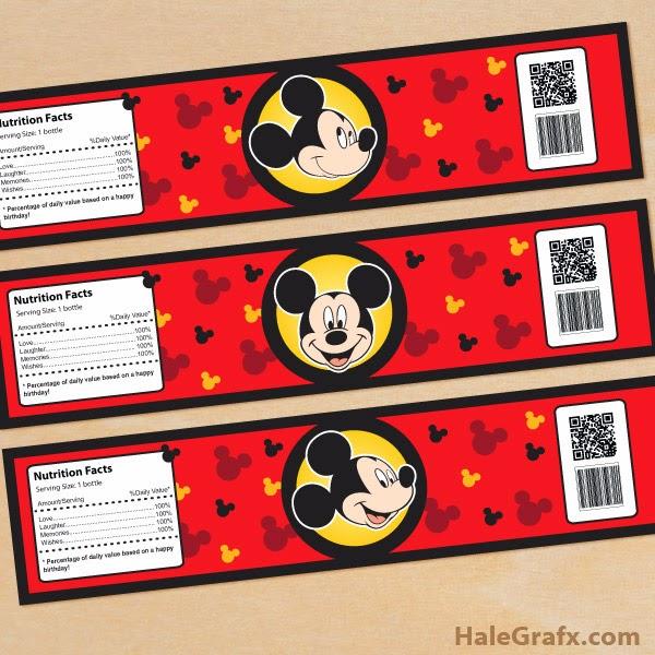 Mickey: Invitaciones y Etiquetas para Imprimir Gratis.   Ideas y ...