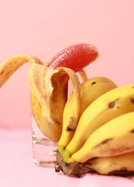 gominola, gum, fresa, strawberry, banana, plátano, receta, recipe