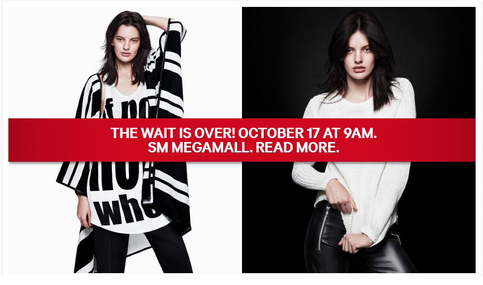 H&M Philippines Grand Opening Sale and Promo @ SM Megamall October 17, 2014