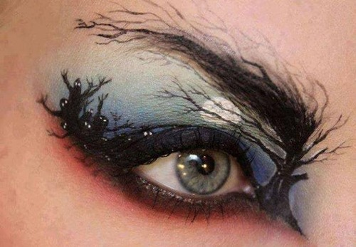 Painted Eye Makeup Halloween Theme