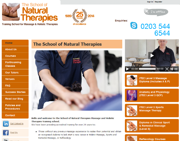 leading provider of natural therapy courses