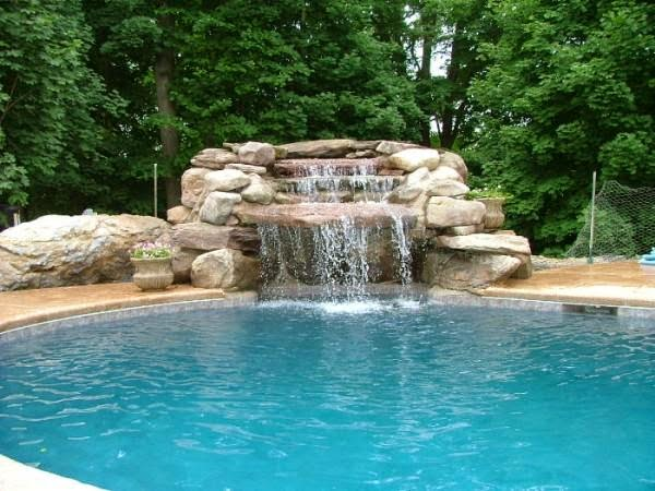Swimming Pool Designs with Waterfalls - AyanaHouse