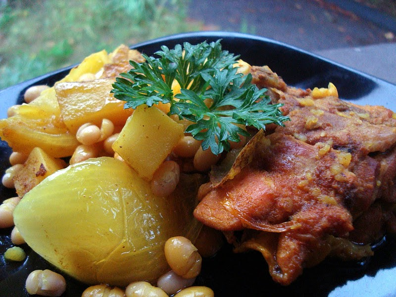 A Couple in the Kitchen: Tagine of Golden Chicken with ...