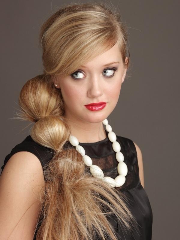 Прическа для тонких длинных волос