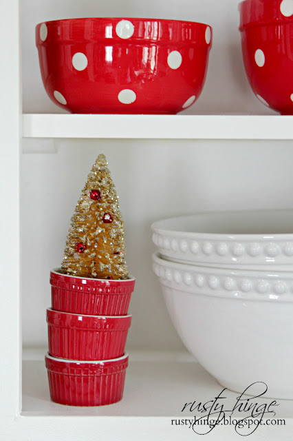 Decorating with vintage bottle brush trees