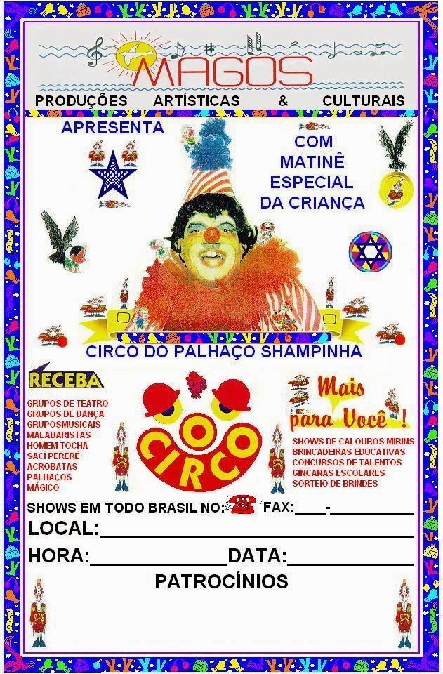 CIRCO DO PALHAÇO SHAMPINHA