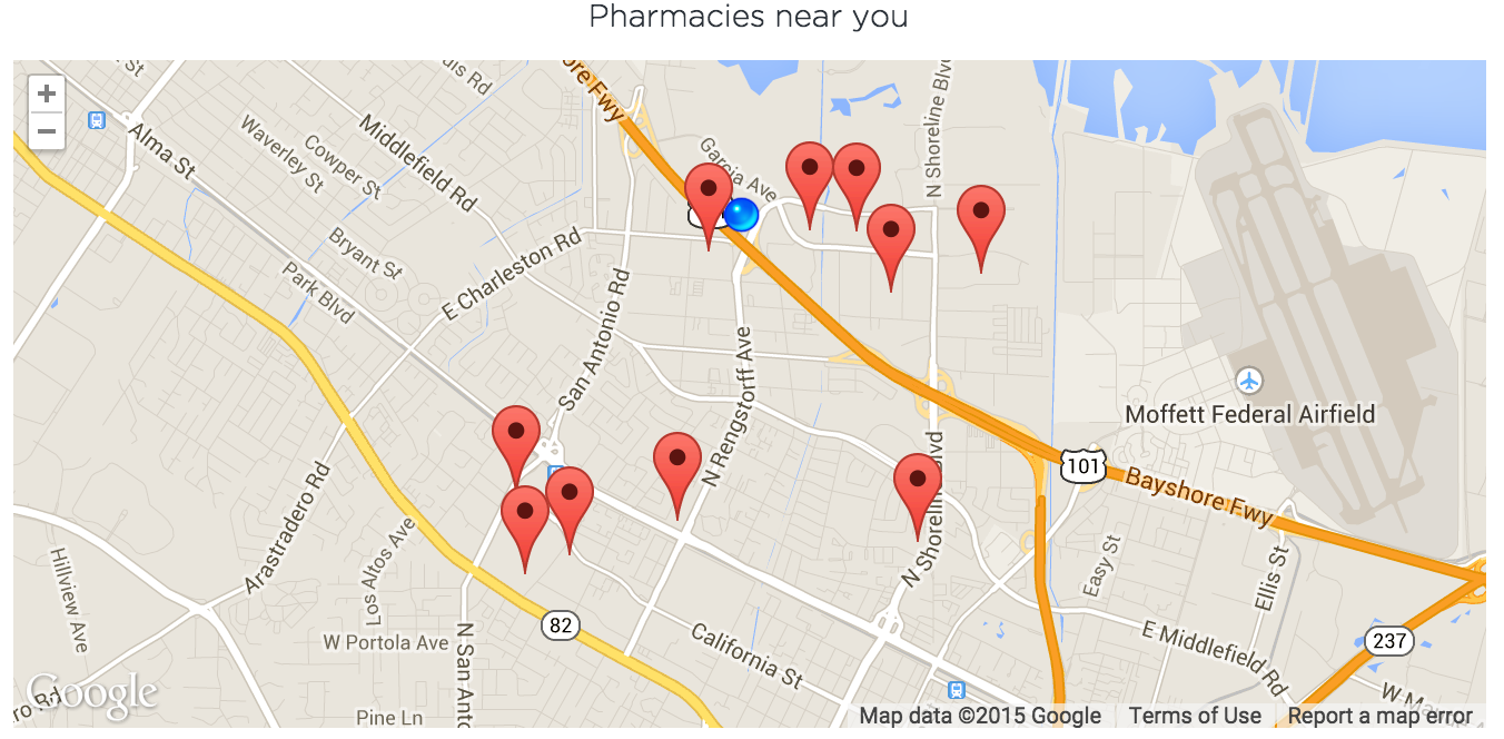 we use the google maps apis including the geolocation and javascript apisto show patients a map of nearby pharmacies before they start a video callwith . official google cloud blog doctor on demand improves patient care