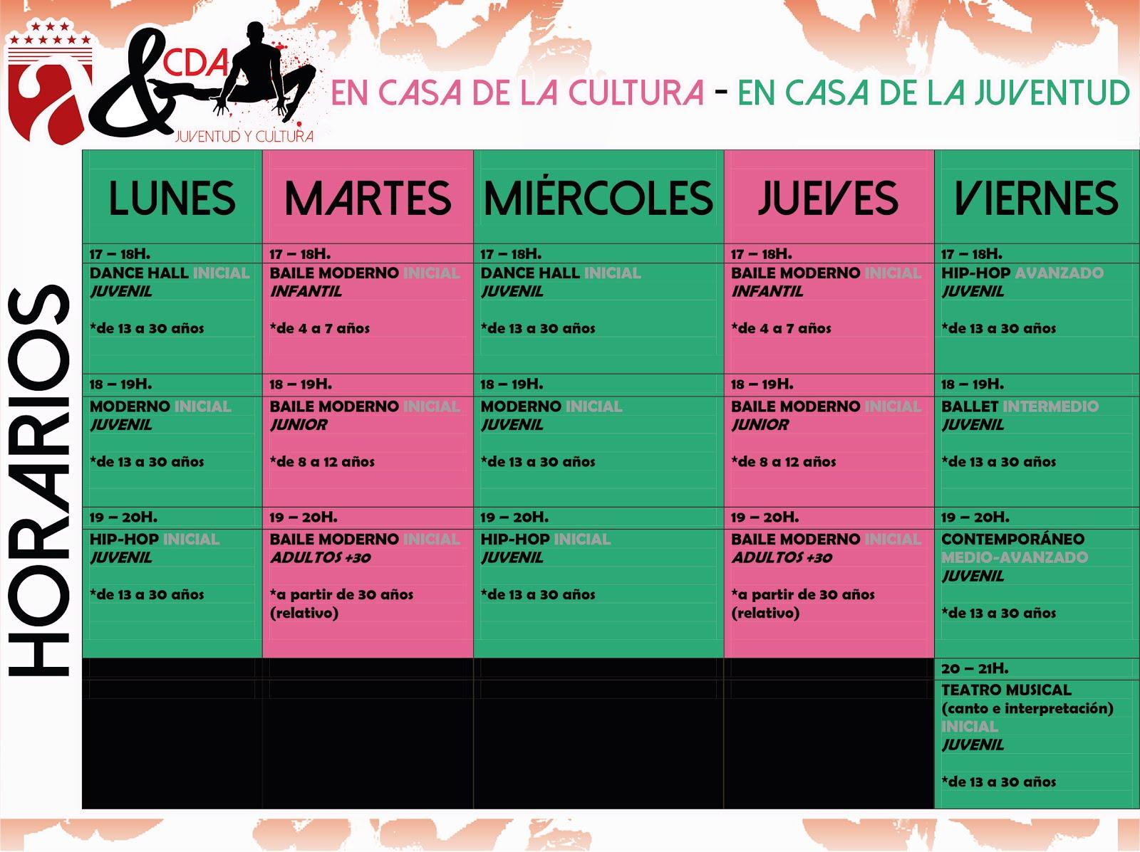Horario en Juventud y Cultura (Ayuntamiento de Armilla)