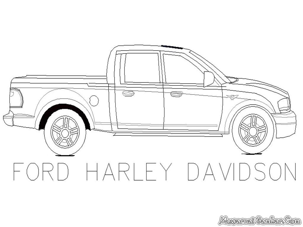 Mewarnai Mobil Ford Harley Davidson