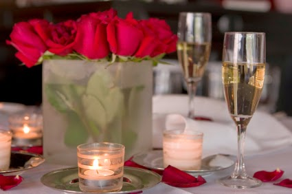 San Valentin, Centro de Mesa, Cena Perfecta