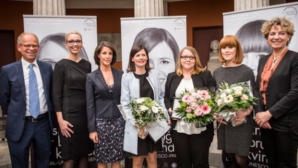Princess Marie of Denmark attends the Unesco / L'Oreal ''Scholarships for Women in Science' award at the Royal Danish Academy