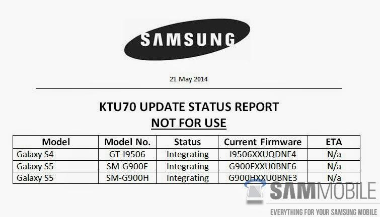 Android 4.4.3 Alacak Samsung Cihazları
