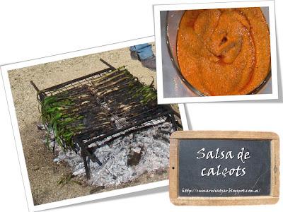 salsa romesco cómo preparar calçots cebollas tiernas valls tarragona