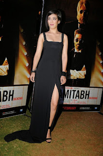 Actress Akshara Haasan  Pictures in Long Dress at Shamitabh Movie Trailer Launch  4