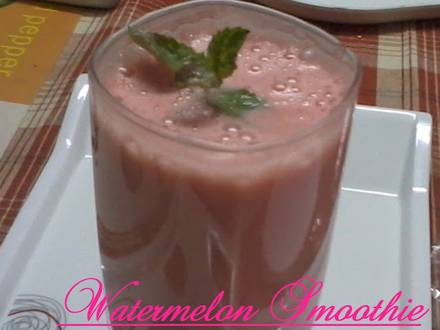 Watermelon And Yogurt Smoothie