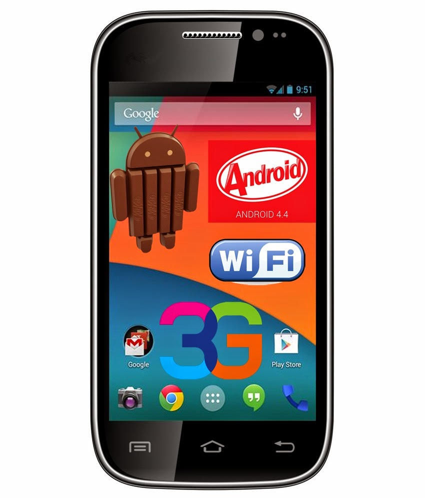 Snapdeal: Buy VOX KICK K4 Android 4.4 Kitkat 3G 4 inch Smartphone at Rs.2499