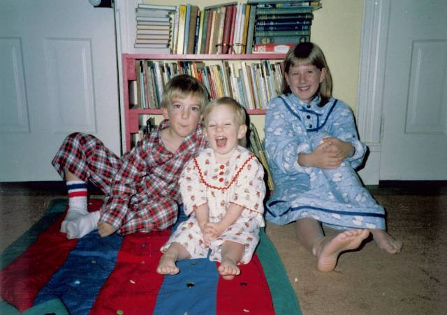 Cook siblings circa 1989