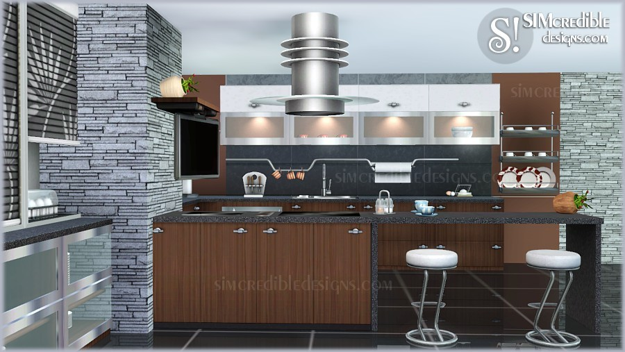 Entertainment world my sims 3 blog cayenne kitchen set for Sims 3 interior design kitchen