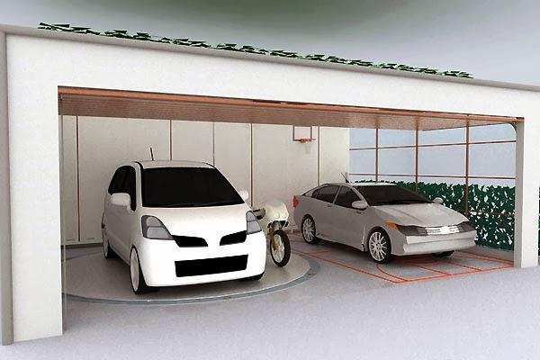 gambar garasi mobil model minimalis