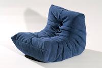 Fauteuil togo bleu