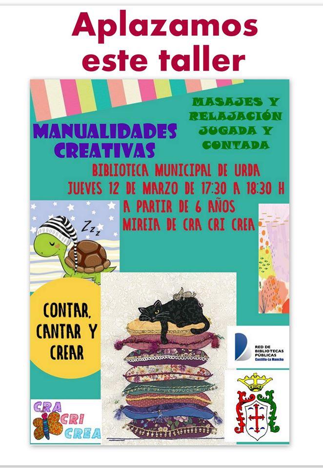 TALLER 12 DE MARZO, APLAZADO.