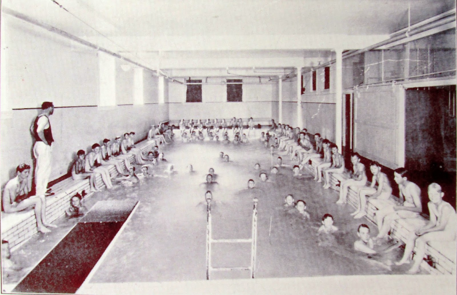 Vintage Boys Swimming Ymca