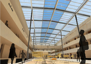 The proposed courtyard roof
