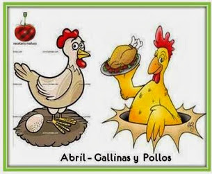 Abril: Gallinas y Pollos