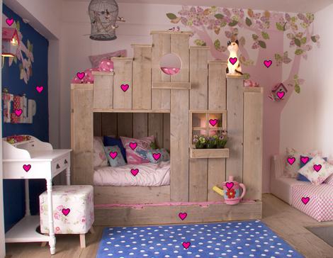 Decora o de quarto infantil casinha da cys - Kleur van kamer voor meisje ...