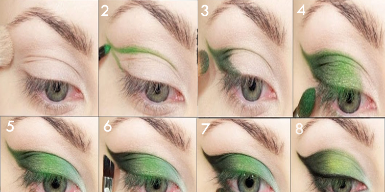 Beautiful eye makeup for green eyes