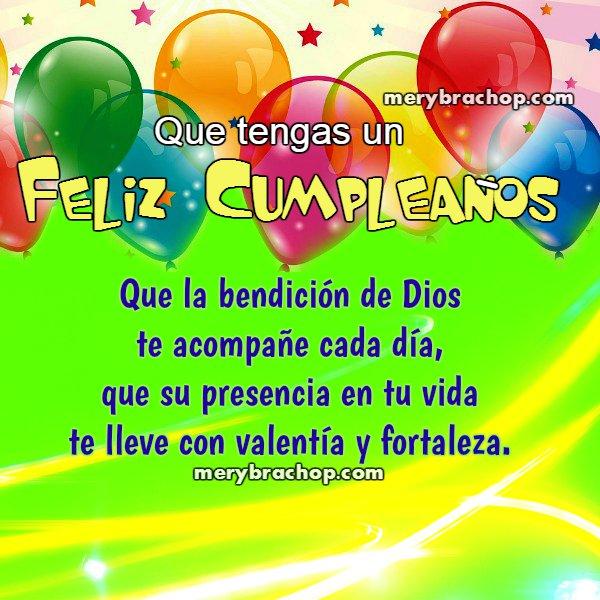 feliz cumpleaños buenos deseos tarjeta cristiana