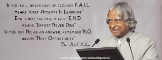 Quotes on Failure by Dr APJ Abdul Kalam