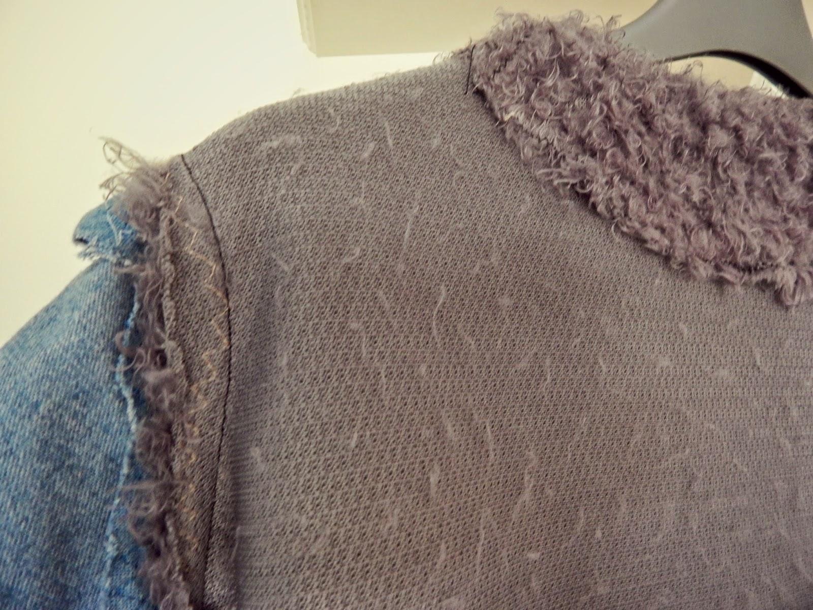 SIY Fluffy Denim Sweatshirt