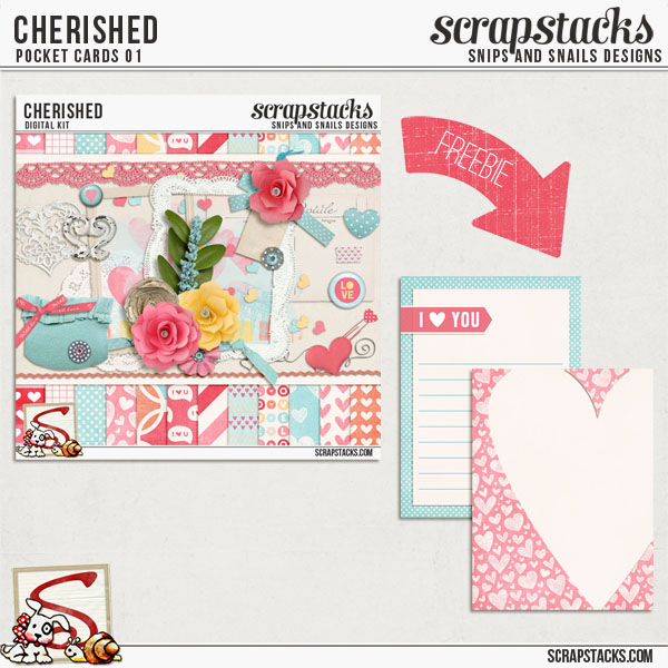 Cherished Pocket Cards Freebie by Snips and Snails Designs