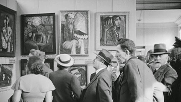 "Germans attending the ""Degenerate Art"""