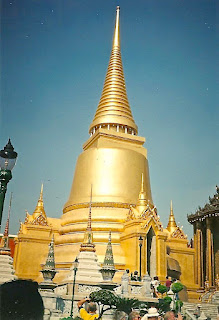 Golden temple Stupa at Wat Pho Bangkok Thailand