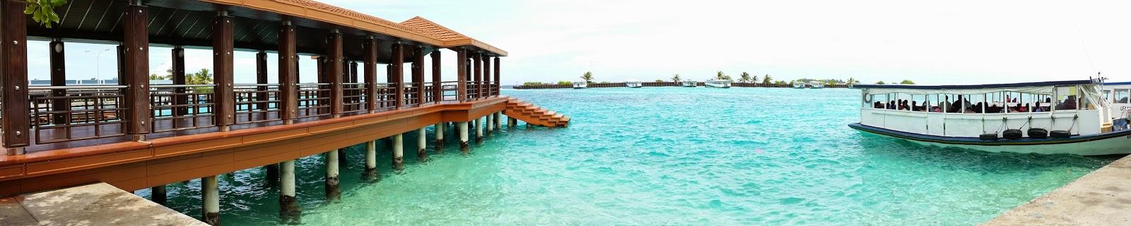 Embarcadero en el Aeropuerto de Ibrahim Nasir de Male (Maldivas)