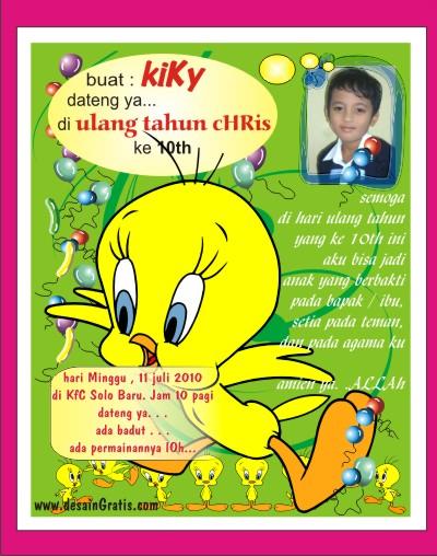 ulang tahun anak, kartu undangan ulang tahun anak-anak, desain